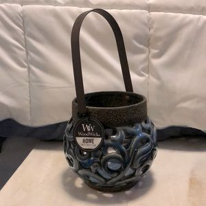 NWT WoodWick ceramic candle lantern